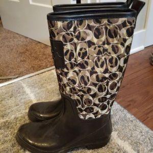Auth woman coach rain boots